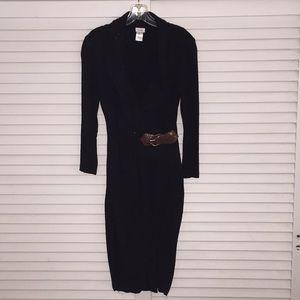 Caché Black w/ brown buckle Dress Size Small